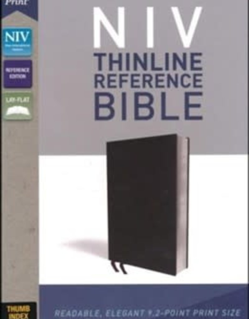 Zondervan NIV Thinline Reference Bible (Comfort Print) Black Bonded Leather, Indexed