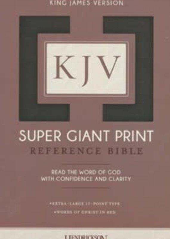 KJV Super Giant Print Reference Bible