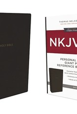 NKJV Personal Size Giant Print Reference Bible (Comfort Print)-Black Leathersoft