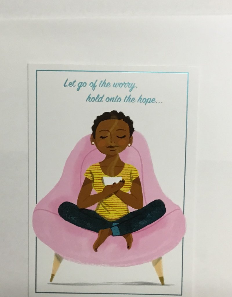 Card - Encouragement Woman in Pink Chair