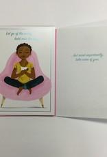 Card - Encouragement Women in Pink Chair
