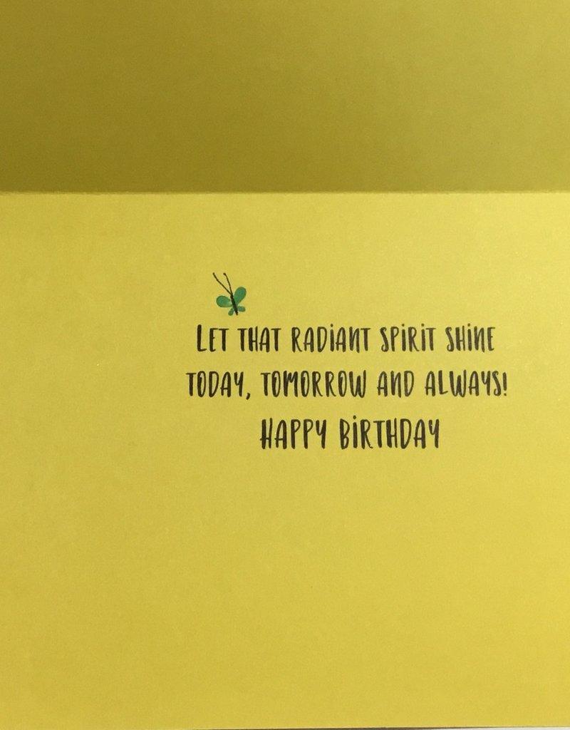 Card - Birthday Girl Hair Bows Butterflies