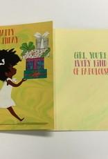 Card - Birthday Little Girl Walking