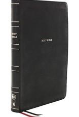 NKJV Large Print Thinline Reference Bible (Comfort Print)-Black Leathersoft