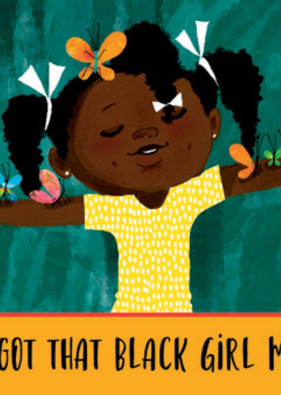 Birthday Card Girl Hair Bows Butterflies