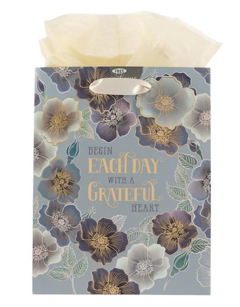 Gift Bag Medium Begin Each Day With A Grateful Heart