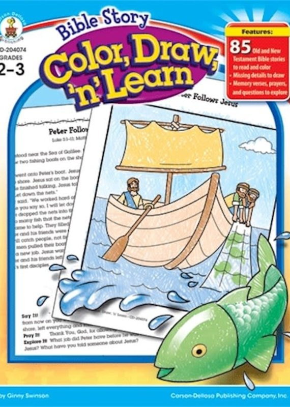 Bible Story Color Draw N Learn