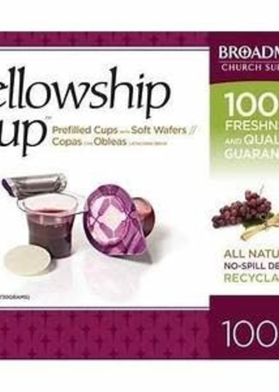 B & H Publishing REPACK Communion-Fellowship Cup Prefilled Juice/Wafer (Box Of 100) CC