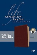 KJV Life Application Study Bible/Large Print-Brown LeatherLike Indexed