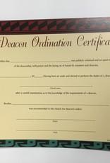Deacon Ordination Cert. Single