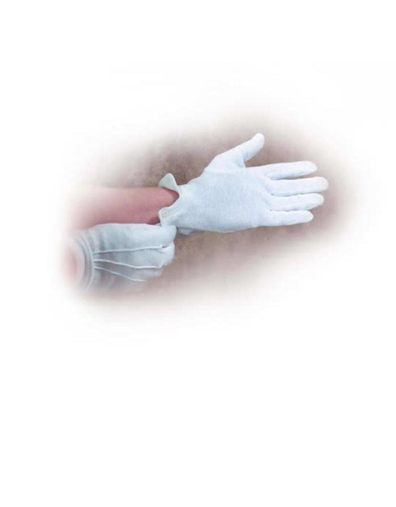 "Gloves-White Cotton-Large (9""-10"")"