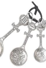 Blessed Beyond Measure Measuring Spoons-4 Piece Set w/Cross