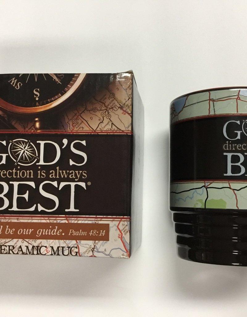 GOD'S DIRECTION IS ALWAYS BEST CERAMIC MUG W/GIFT BOX