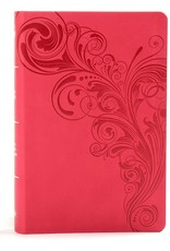 KJV Large Print Personal Size Reference Bible-Pink LeatherTouch