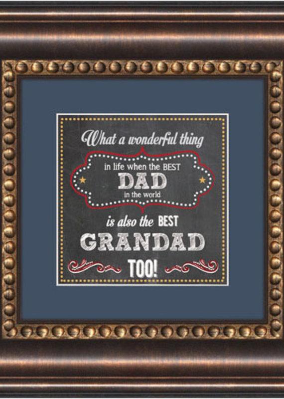 Framed Tabletop Dad And Granddad