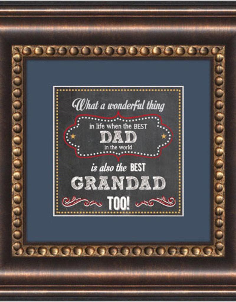 Framed Tabletop - Dad And Granddad