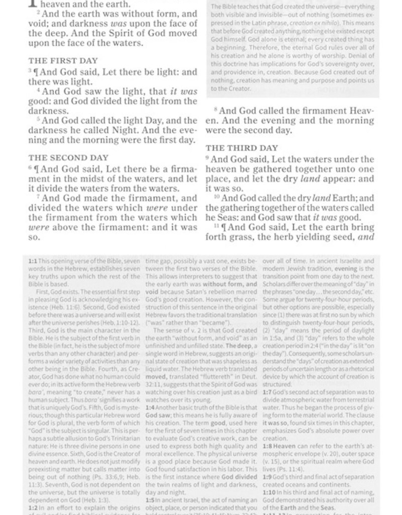 KJV Everyday Study Bible-Charcoal LeatherTouch