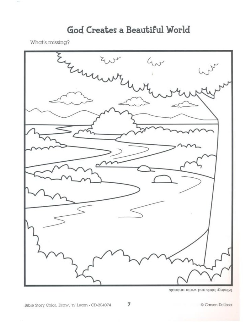 Bible Story Color Draw N Learn (Grades 2-3)