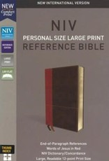NIV Personal Size Large Print Reference Bible (Comfort Print)-Tan/Brown LeatherSoft Indexed