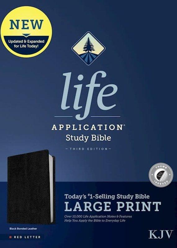 Tyndale KJV Life Application Study Bible 3rd Ed. Large Print-Black Bonded Leather Indexed