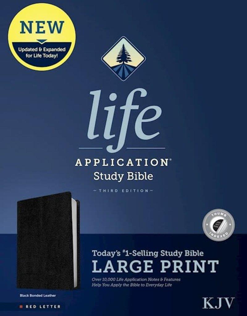 Tyndale KJV Life Application Study Bible/Large Print-Black Bonded Leather Indexed