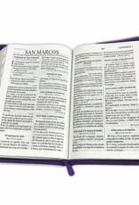 Biblia Letra Grande Con Cierre Reina Valera 1960 Morado Floral Indice
