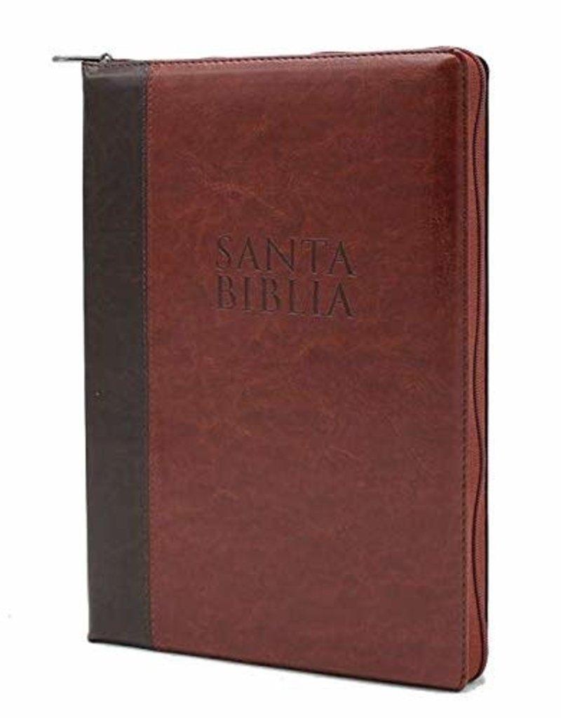 Biblia Letra Súper Gigante con Cierre Reina Valera 1960 Café Indice