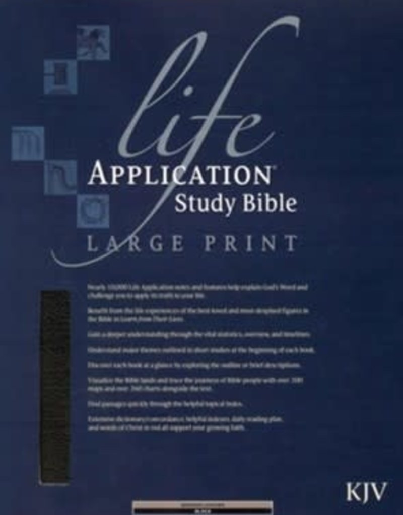 KJV Life Application Study Bible 2nd Edition, Large Print, Bonded leather, black, Thumb-Indexed