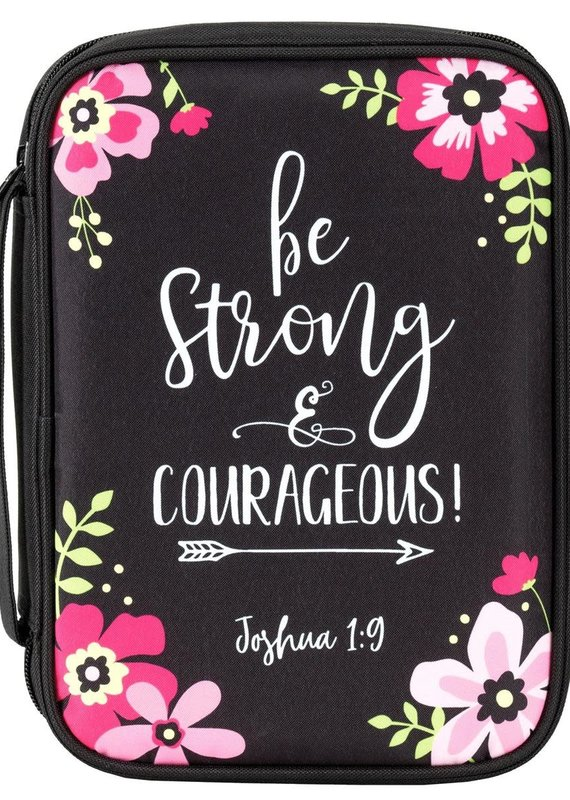 Bible Cover Black Be Strong