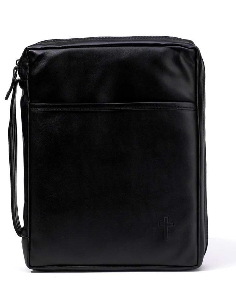 Bible Cover Trifold Maxi Black
