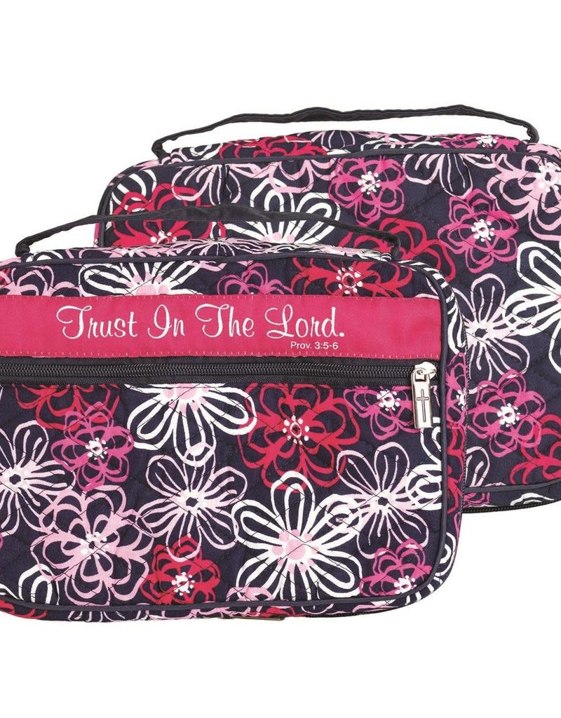 Bible Cover Trust In The Lord Quilted Large