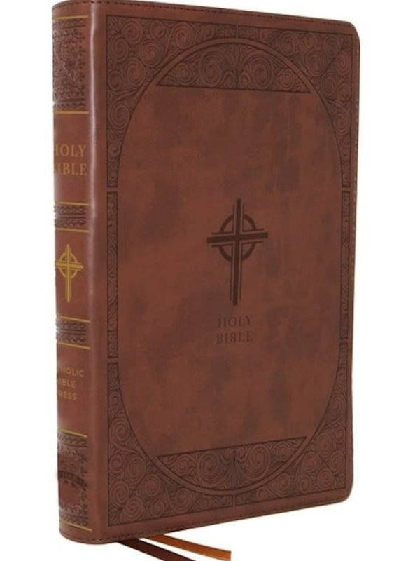 NABRE Catholic Bible/Large Print (Comfort Print)-Brown Leathersoft Indexed
