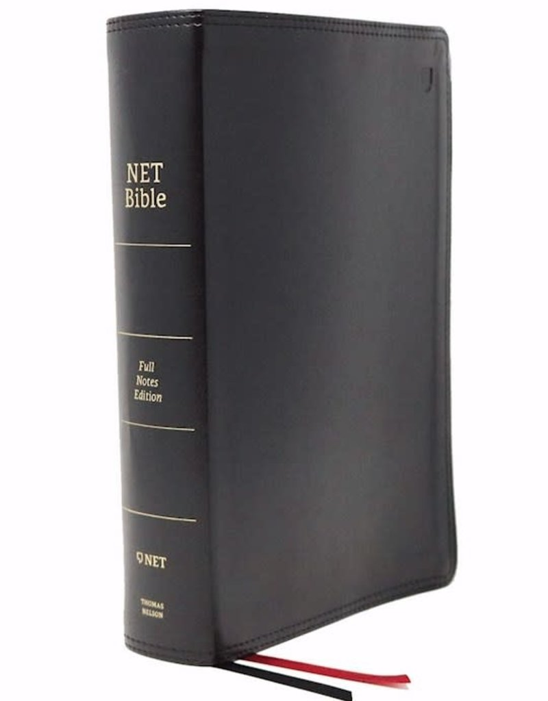 NET Bible (Full-Notes Edition) (Comfort Print)-Black Leathersoft