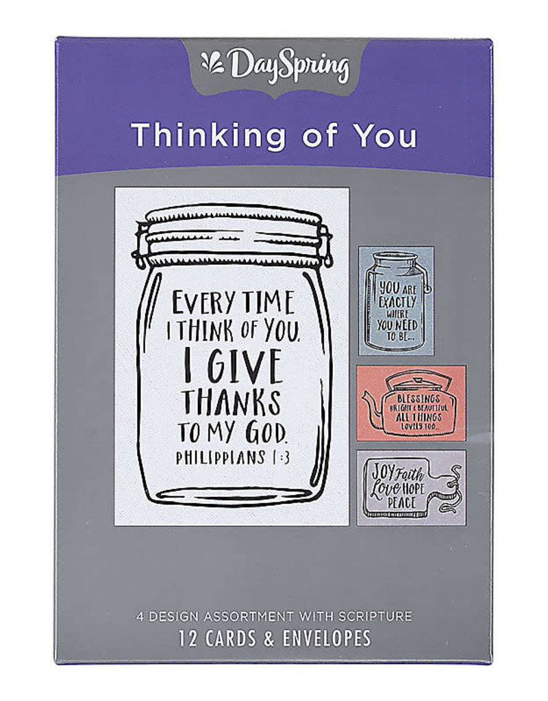 Boxed Cards Thinking of You Jars