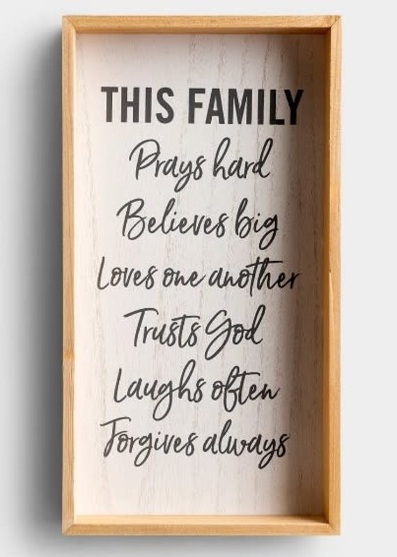 Wall Sign This Family