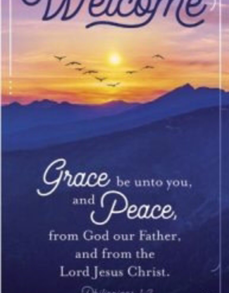 Guest Card-Welcome: Grace And Peace (Pack Of 50)