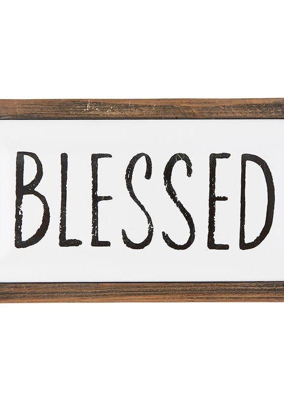 Tabletop décor Framed Enamel Plaque Blessed