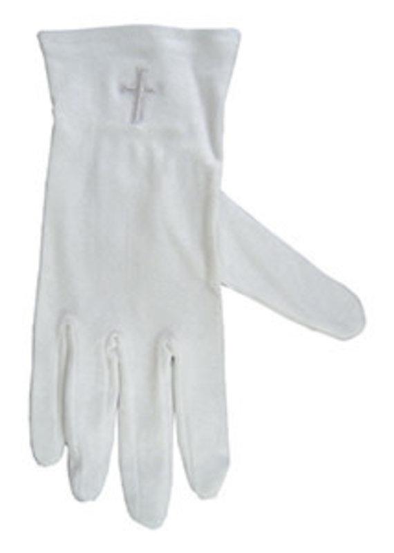 Gloves w/ white cross  L