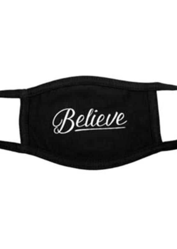 Face Mask Believe Black