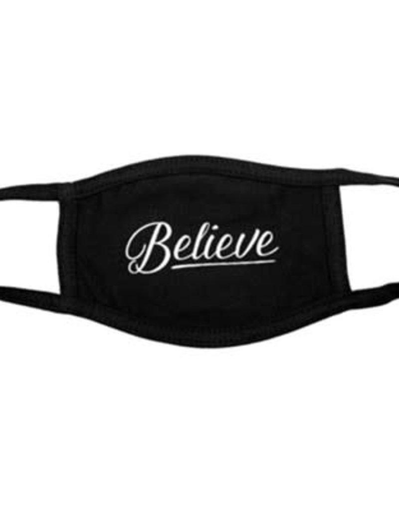 Face Mask - Believe Black