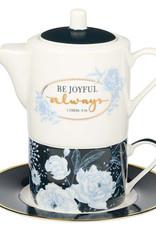 Be Joyful Always Tea for One Tea Set - 1 Thessalonians 5:16