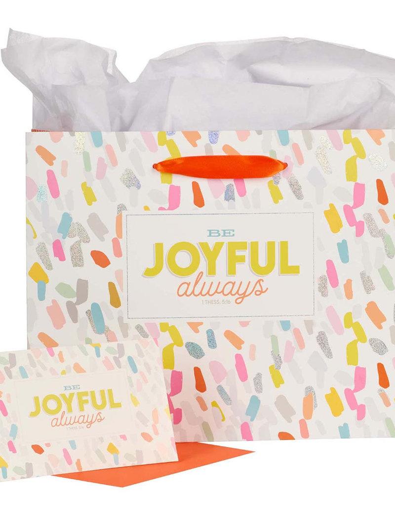 Always Joyful Large Gift Bag - 1 Thessalonians 5:16