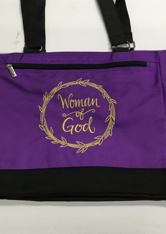 Tote -Woman of God Purple