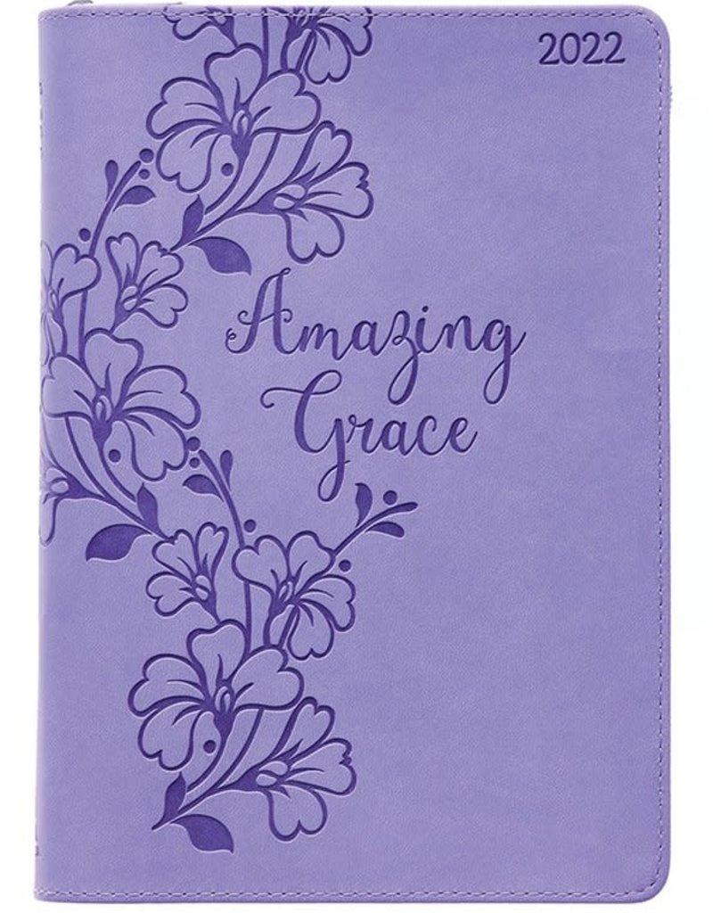 2022 12-month Executive Planner, Amazing Grace, Purple