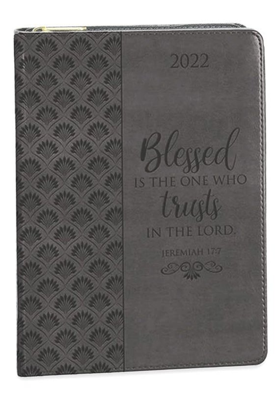 2022 12-month Executive Planner, Blessed is the One Who Trusts in the Lord, Gray