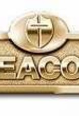 B & H Publishing Brass Deacon Badge-Deacon with Cross-Magnetic Back-Brassn Badge with Cross