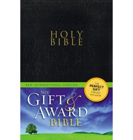 Zondervan NIV Gift & Award Bible, Black, Leather Look
