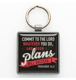 Commit to the Lord - Metal Keyring Featuring Prov. 16-3