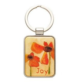 Golden Blossoms Metal Keyring - Joy - Heb 3-18