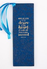 Bookmark-Pagemarker-Desires Of Your Heart & Make Your Plans Succeed-LuxLeather